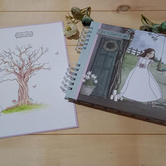 Album y Libro de Firmas de Comunión para niña