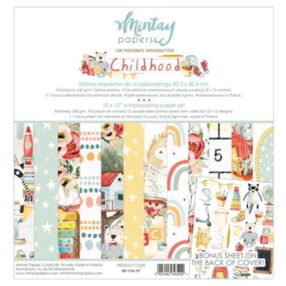 """Kit """"Childhood"""" Mintay paper de 30x30 cm"""