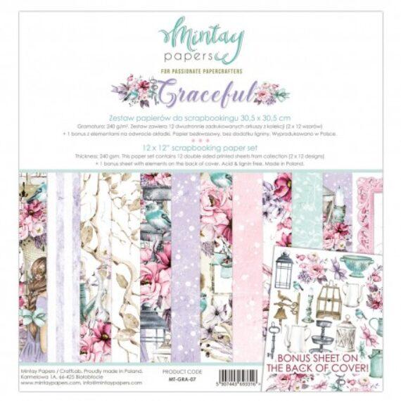 """Kit """"Graceful"""" Mintay paper de 30x30 cm"""