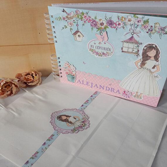 Album y Libro de Firmas de Primera Comunión para niña