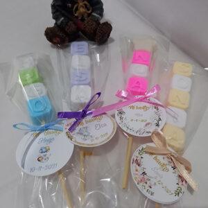Brochetas de jabón de glicerina